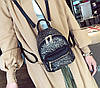 Мини рюкзак женский городской черный, фото 2