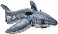 Детский надувной плотик Акула Intex 173х107 см (57525)