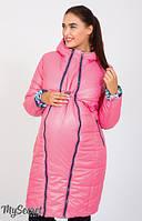 Зимняя куртка для беременных и после Kristin print коралловый