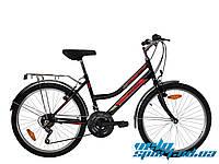 Городской велосипед Mustang Sport 24 (розовый, черно-красный)