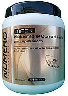 Brelil Numero,Маска для волос питательная с маслом карите - (1l) Италия