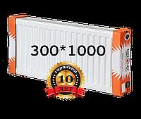 TEPLOVER 300х1000 22 тип стальной радиатор с боковым подключением