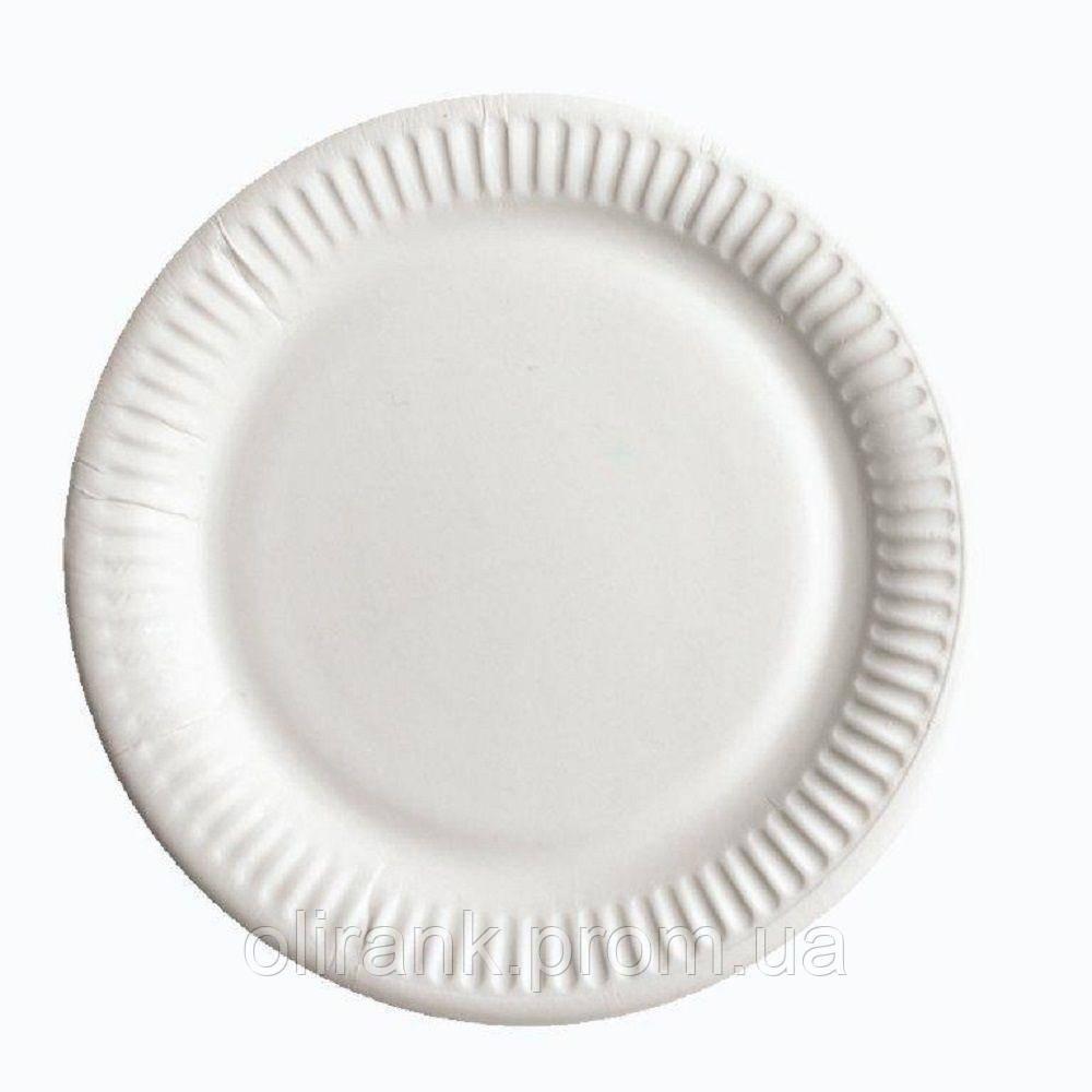 Тарелка бумажная 2-я ламинация d 23 100шт/уп (10уп/ящ)
