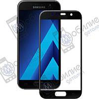 Защитное стекло Samsung A3 (A320) Black Full Screen