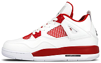 Баскетбольные кроссовки Nike Air Jordan 4 Retro (Найк Аир Джордан Ретро 4) белые