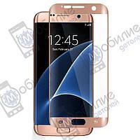Защитное стекло Samsung S7 Edge (G935) 3D Pink Full Screen