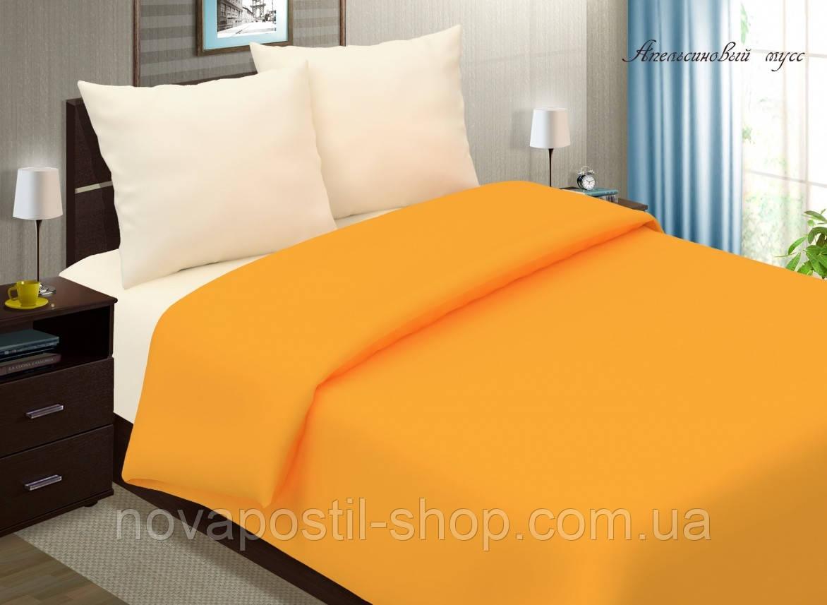 Комплект однотонного постельного белья Апельсиновый мусс