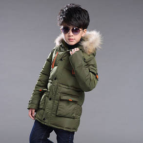 Модные детские куртки зимние с мехом, фото 2