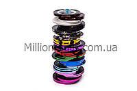 Цветная декоративная лента для дизайна ногтей 0,2мм, цвета в ассортименте