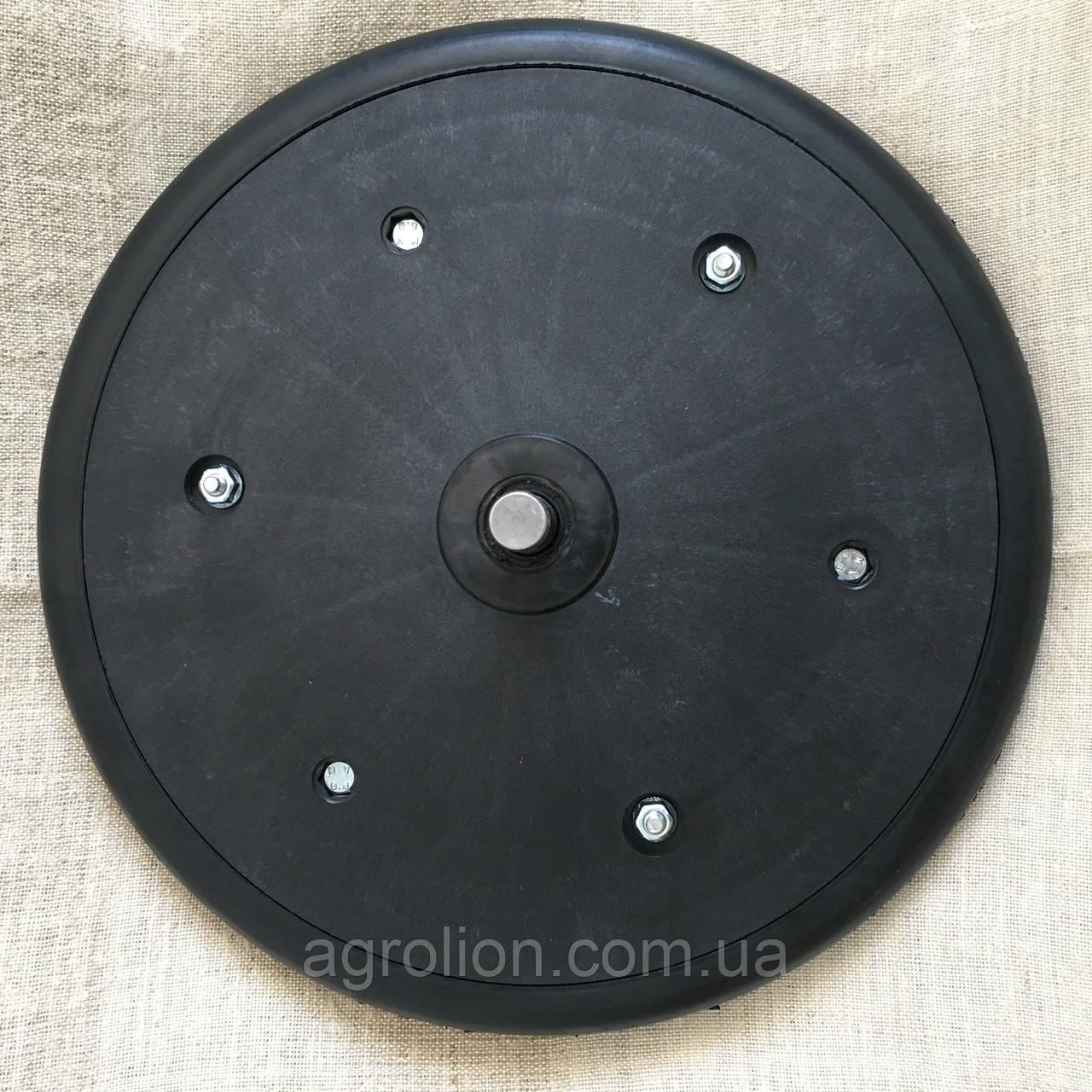 """Прикотуюче колесо в зборі ( диск поліпропілен ) з підшипником 1"""" x 12"""", John Deere, AA43899, з підшипником 885"""