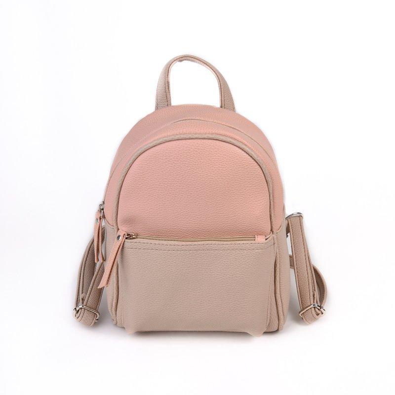 5f110d3df31c Маленький рюкзак М124-65/66 комбинированный бежевый розовая пудра, фото 1