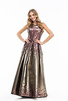 Enigma Store G 0805  2 Нежнейшее платье из жаккарда в пол