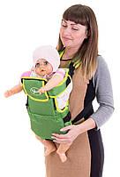 Рюкзак - кенгуру с капюшоном №8 Умка, зеленый