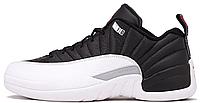 """Женские кроссовки Air Jordan 12 GS """"Playoffs"""" (Аир Джордан Ретро) черные/белые"""