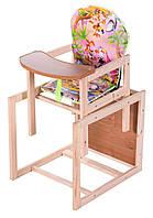 Детский стульчик для кормления трансформер Natalka, розовый
