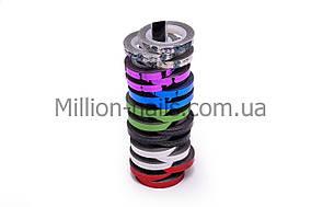 """Цветная декоративная лента """"Ромбики"""" для дизайна ногтей, цвета в ассортименте 0,8мм"""