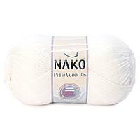 Nako Pure Wool 3,5  - 208 белый