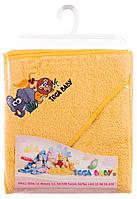 Детское полотенце с капюшоном «Safari» Tega Baby, 80х80желтое