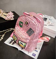 Городской рюкзак женский розовый