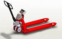 Гидравлическая тележка с весами и принтером самоклеющихся этикеток 4BDU-P-В практичная 520x1200 мм,до 2000 кг