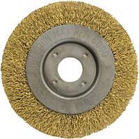 Корщетка-колесо  желтая 150 мм