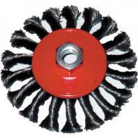 Корщетка-колесо 100 мм витая, с наклоном, гайка М 14