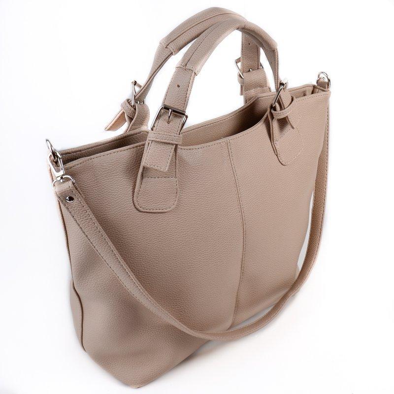 15f00c109098 Бежевая сумка-шоппер М51-66 женская трапеция фигурная модная - Интернет  магазин сумок SUMKOFF