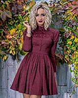 Элегантное платье с жаккарда  Olga бордо !