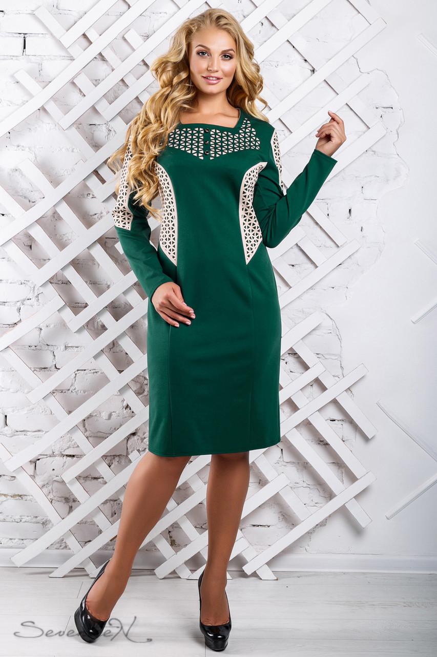 3b5e1852168 Красивое женское платье 2322 зеленый (50-56) - цена 560 грн. Купить ...