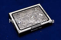 Набор микс для дизайна ногтей, серебро