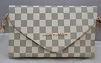 Женская сумка-клатч Louis Vuitton, бежевая в серую клетку Луи Виттон