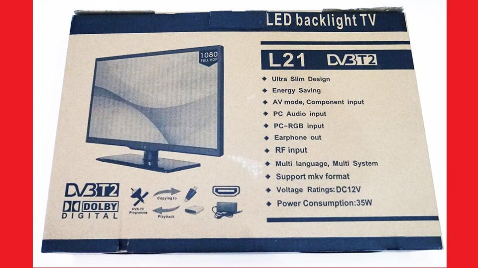 """LCD LED Телевизор L21 19"""" DVB - T2 12v/220v HDMI IN/USB/VGA/SCART/COAX OUT/PC AUDIO IN"""