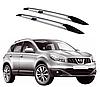 Рейлинги Nissan Qashqai 2007-2014 с металлическим креплением