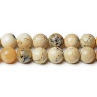 Африканский Опал, Натуральный камень, бусины 8 мм, Шар, Отверстие 1 мм, количество: 47-48 шт/нить