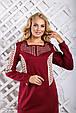 Красивое  женское платье 2321 марсала (50-56), фото 5