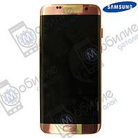 Дисплей Samsung S7 Edge (модуль экран + тачскрин) G935 Pink Gold