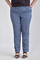 Женские брюки с розами большие размеры Б027 размер 42-74