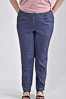 Женские брюки с ромашками большие размеры Б027 размер 42-74