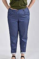 Женские синие брюки пирамида большие размеры Б027 размер 42-74