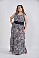 Женское цветное платье в пол 0531 размер 42-74 / большого размера