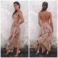 Женское шикарное летнее платье с принтом (2 цвета), фото 1