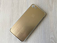 Золотая накладка под металл силиконовая для iPhone 7/7S в упаковке