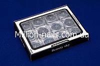 Набор для дизайна ногтей меланж, серебро