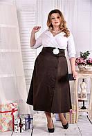 Женское платье макси 0559 цвет коричневый размер 42-74 / больших размеров