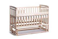 Детская кроватка-трансформер Лодочка без ящика натуральный цвет Детский Сон