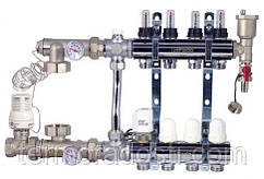 Коллектор в сборе для теплого пола FADO SEN04 (4 отвода)