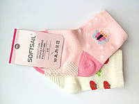 Носочки для девочек 0-8 мес. 2 пары