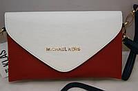 Женская сумка-клатч Michael Kors, цвет бело-красно-синий Майкл Корс MK