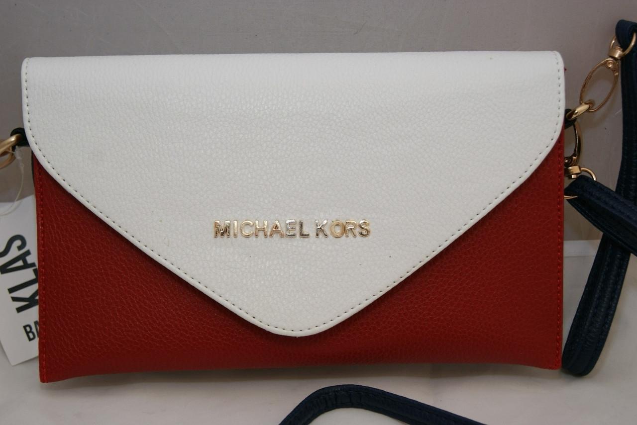 230ee45e584b Женская сумка-клатч Michael Kors, цвет бело-красно-синий Майкл Корс ...