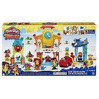 Игровой набор пластилин Плей До  Город главная улица 3 в 1 Play-Doh Town 3-in-1 Town Center B5868, фото 1